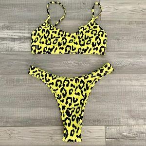 Other - Yellow Leopard Print Bikini